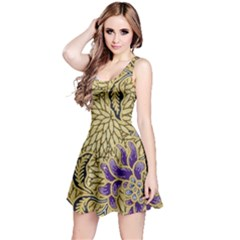Traditional Art Batik Pattern Reversible Sleeveless Dress