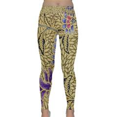 Traditional Art Batik Pattern Yoga Leggings