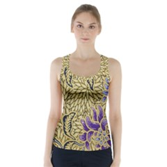 Traditional Art Batik Pattern Racer Back Sports Top