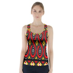 Toraja Traditional Art Pattern Racer Back Sports Top