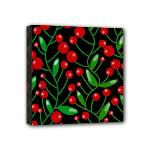 Red Christmas berries Mini Canvas 4  x 4