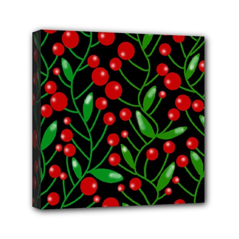 Red Christmas berries Mini Canvas 6  x 6