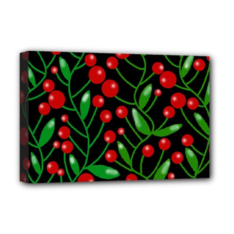 Red Christmas berries Deluxe Canvas 18  x 12