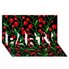 Red Christmas berries PARTY 3D Greeting Card (8x4)