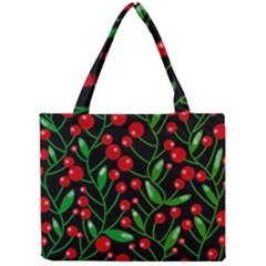 Red Christmas berries Mini Tote Bag