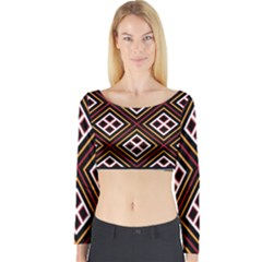 Toraja Pattern Pa re po  Sanguba ( Dancing Alone ) Long Sleeve Crop Top