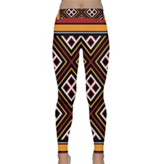 Toraja Pattern Pa re po  Sanguba ( Dancing Alone ) Yoga Leggings