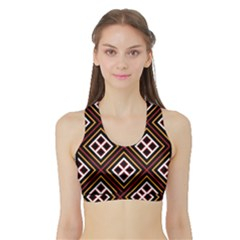 Toraja Pattern Pa re po  Sanguba ( Dancing Alone ) Sports Bra with Border