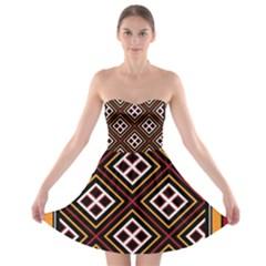 Toraja Pattern Pa re po  Sanguba ( Dancing Alone ) Strapless Bra Top Dress