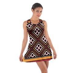 Toraja Pattern Pa re po  Sanguba ( Dancing Alone ) Cotton Racerback Dress