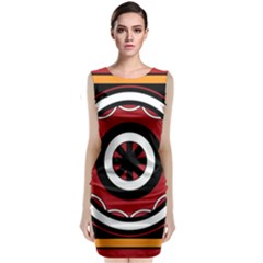 Toraja Pattern Pa barre Allo Classic Sleeveless Midi Dress