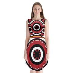 Toraja Pattern Pa barre Allo Sleeveless Chiffon Dress