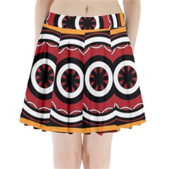 Toraja Pattern Pa barre Allo Pleated Mini Skirt