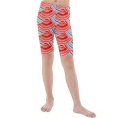 Element Of The Flower Of Life   Pattern Kids  Mid Length Swim Shorts