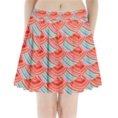 Element Of The Flower Of Life   Pattern Pleated Mini Skirt