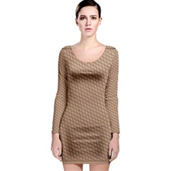 Tooling Patterns Long Sleeve Bodycon Dress