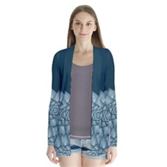 Flower Star Drape Collar Cardigan