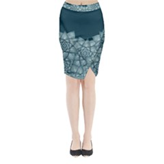 Flower Star Midi Wrap Pencil Skirt