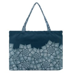 Flower Star Medium Zipper Tote Bag