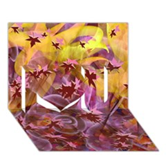 Falling Autumn Leaves I Love You 3d Greeting Card (7x5)