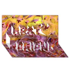 Falling Autumn Leaves Best Friends 3d Greeting Card (8x4)