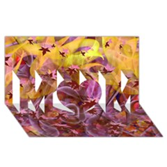 Falling Autumn Leaves Mom 3d Greeting Card (8x4)