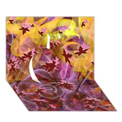 Falling Autumn Leaves Apple 3d Greeting Card (7x5)
