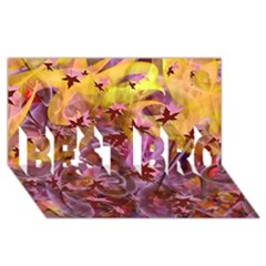Falling Autumn Leaves Best Bro 3d Greeting Card (8x4)