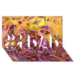 Falling Autumn Leaves #1 Dad 3d Greeting Card (8x4)