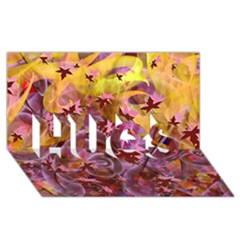 Falling Autumn Leaves Hugs 3d Greeting Card (8x4)