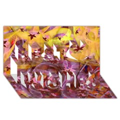 Falling Autumn Leaves Best Wish 3d Greeting Card (8x4)