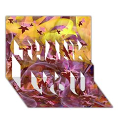 Falling Autumn Leaves Thank You 3d Greeting Card (7x5)