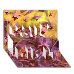 Falling Autumn Leaves You Did It 3d Greeting Card (7x5)