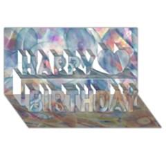 Spirals Happy Birthday 3d Greeting Card (8x4)