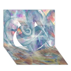 Spirals Heart 3d Greeting Card (7x5)