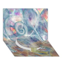 Spirals Circle Bottom 3d Greeting Card (7x5)
