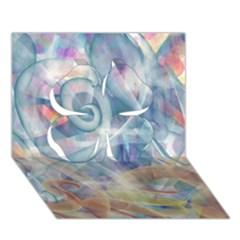 Spirals Clover 3d Greeting Card (7x5)
