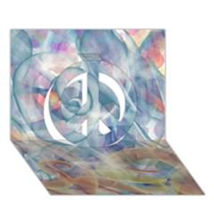 Spirals Peace Sign 3d Greeting Card (7x5)