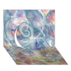 Spirals Circle 3d Greeting Card (7x5)