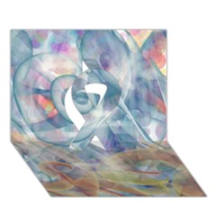 Spirals Ribbon 3d Greeting Card (7x5)