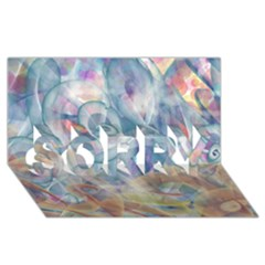 Spirals Sorry 3d Greeting Card (8x4)