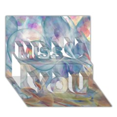 Spirals Miss You 3d Greeting Card (7x5)