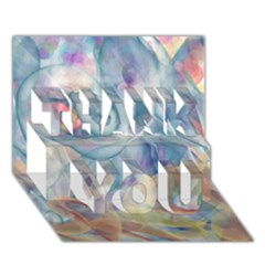 Spirals Thank You 3d Greeting Card (7x5)