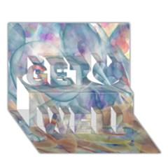 Spirals Get Well 3d Greeting Card (7x5)
