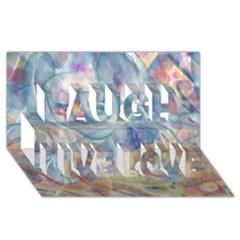 Spirals Laugh Live Love 3d Greeting Card (8x4)