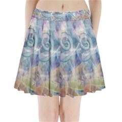 Spirals Pleated Mini Skirt
