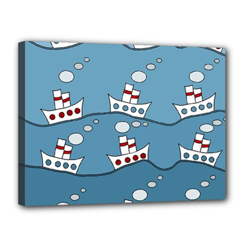 Boats Canvas 16  x 12
