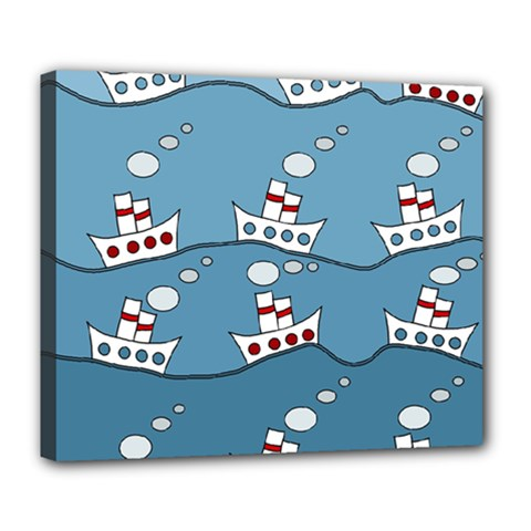 Boats Deluxe Canvas 24  x 20