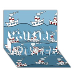 Boats YOU ARE INVITED 3D Greeting Card (7x5)