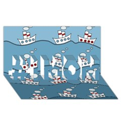 Boats #1 MOM 3D Greeting Cards (8x4)